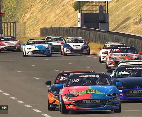 Autosport.nl: Mazda MX-5 Cup E-sports Edition -Geslaagd eerste evenement op Circuit Zandvoort met hoofdrollen voor Colin Caresani en Danny Kroes