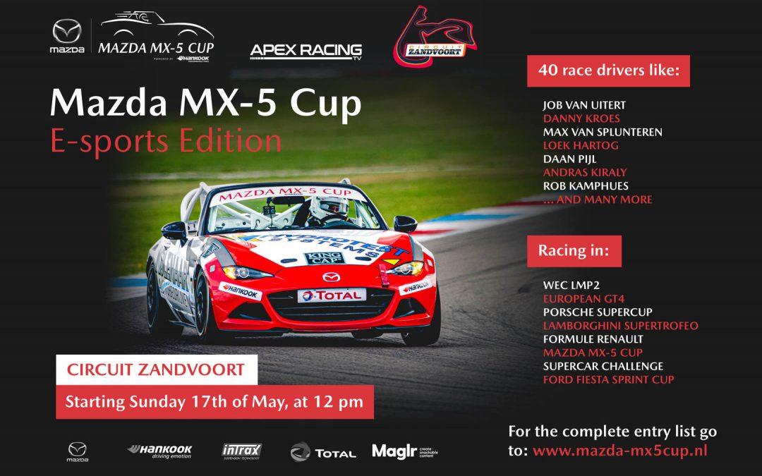 17 mei 12:00 uur Mazda MX-5 e-sports edition Zandvoort