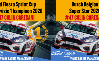 Colin Caresani – Ford Fiesta Sprint Cup Champion Juniors and Superstar NL and B 2020